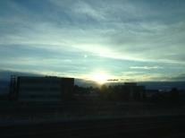 l'alba dall'autostrada
