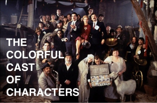 the colorful cast of characters