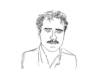 b&w pencil sketch